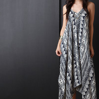 Tie Spaghetti Strap V Neck Maxi Dress