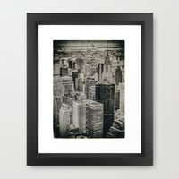 New York City buildings Framed Art Print by JAY'S PICTURES