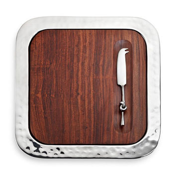 Sierra Serve Tray w/Wood Insert & Cheese Knife