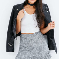 Silence + Noise Space-Dye Ruffle Hem Mini Skirt - Urban Outfitters