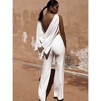 Kate White Open Back Glamour Jumpsuit