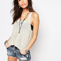 Only Knitted High Low Tank at asos.com