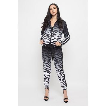 Ombre Gradient Tiger Stripe Tracksuit