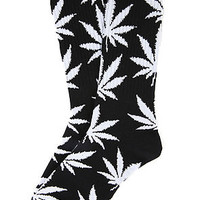 The Plant Life Socks in Black and White
