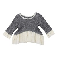 Newborn Baby Girl Long Sleeve Casual Tops Dresses Clothes Infant Toddler Girls Patchwork Brief Warm Dresses Daily Clothing