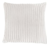"Pillow - 18""X 18"" / Ivory Ultra Soft Ribbed Style / 1Pc"