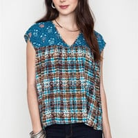Printed Baby Doll Blouse
