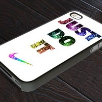 NIKE Just Do It Glitters - Print On Hard Cover For iPhone 4,4S