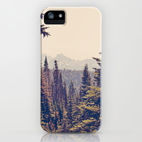 Mountains through the Trees iPhone & iPod Case by Kurt Rahn