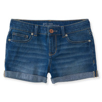 Kids' Cuffed Medium Wash Denim Shorty Shorts - PS From Aeropostale