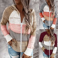 Fashion striped cardigan