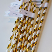 125 Bachelorette Party Paper Straws with Custom Flags / Personalized Straws / Bachelorette Party Straws / Party Straws / Custom Straws