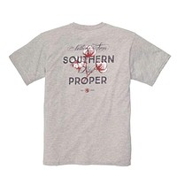 Nothing Says Southern (Like Southern Proper) Tee in Grey by Southern Proper