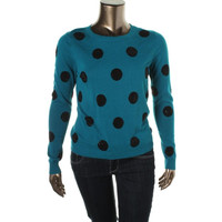 Grace Elements Womens Knit Polka Dot Pullover Sweater