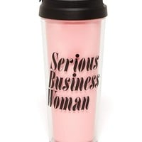 Serious Business Woman Thermal Mug