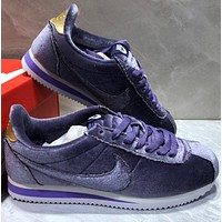 Nike W Classic Cortez Leather Velvet women's leisure running shoes