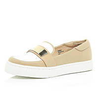 Tan sporty slip on loafers - loafers / pumps - shoes / boots - women