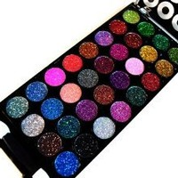 Dazzling 77 Color Matte Neon Glitter Eyeshadow Makeup Kit