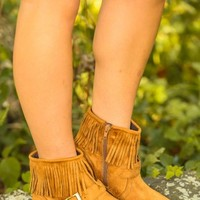 Life In The Fast Lane Booties-Cognac