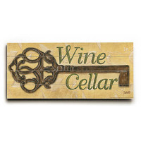 Wine Cellar by Artist Debbie Dewitt Wood Sign