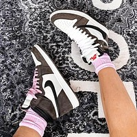 Air Jordan 1 x Travis Scott AJ1 Fashion New Hook Women Men High Top Shoes