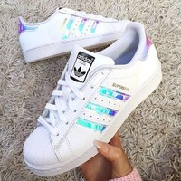 Tagre™ Adidas Women Fashion Reflective Flats Sneakers Sport Shoes