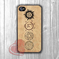 Supernatural signs vintage - 4n for iPhone 4/4S/5/5S/5C/6/ 6+,samsung S3/S4/S5,samsung note 3/4