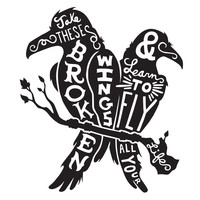 Blackbirds Character-Type Wall Decal