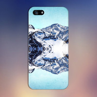 Mirror Image Snowy Mountain x Blue Lake Phone Case for iPhone 6 6 Plus iPhone 5 5s 5c 4 4s Samsung Galaxy s6 s5 s4 & s3 and Note 5 4 3 2