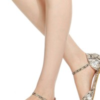 Faux Snake Skin Peep Toe Flats @ Cicihot Flats Shoes online store:Women's Casual Flats,Sexy Flats,Black Flats,White Flats,Women's Casual Shoes,Summer Shoes,Discount Flats,Cheap Flats,Spring Shoes