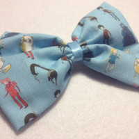 Adventure time fionna and cake hair bow