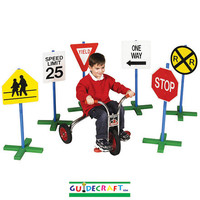 Guidecraft Drivetime Signs - Set of 6 - G3060