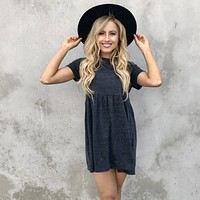 Carry On Babydoll Dress in Black