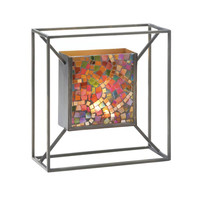 Mosaic Candle Wall Sconce - Confetti