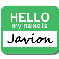 Javion Hello My Name Is Mouse Pad