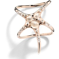 Cristina Ortiz Starfish Double Rose Gold Ring | Harrods