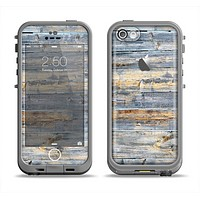 The Vintage Wooden Planks with Yellow Paint Apple iPhone 5c LifeProof Fre Case Skin Set