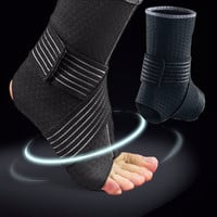 CFR Black 1 Piece Sports Safely Basketball Volleyball Ankle Support Badminton Elasticity Ankle Protector Brace Support M L XL