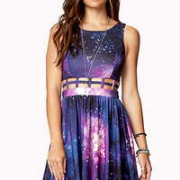 Fit & Flare Cosmic Cage Dress