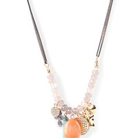 long necklace with charms