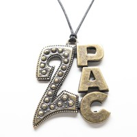 2Pac Tupac Pendant Unisex Necklace with Rope