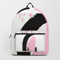 Minimal black & pink 02 Backpack by vivigonzalezart