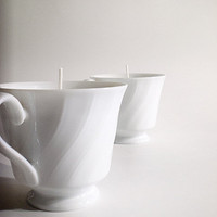 Romantic Pure Essential Oil Fine China teacup candle - Customize your own blend