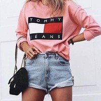 Tommy Jeans Fashion Long Sleeve Pullover Sweatshirt Top Sweater