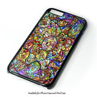 All Disney Heroes Stained Glass Iphone Case Design for iPhone and iPod Touch Case