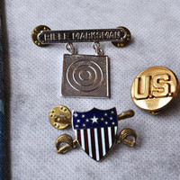 Vintage Military Pins U.S.A.  Take-Your-Pick Under 5 Dollars Gift For Men