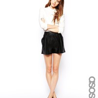 ASOS TALL Leather Look Shorts