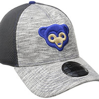 MLB Chicago Cubs 2016 Clubhouse 39Thirty Stretch Fit Cap, Small/Medium, Heather Gray