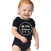 Black One-Piece with Logo in White