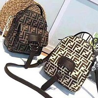 "Hot Sale ""FENDI"" Popular Women Men Daypack School Bag Mini Backpack"